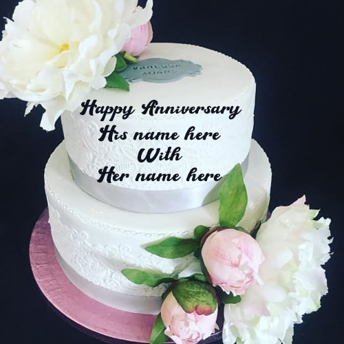 marriage anniversary cake with name download