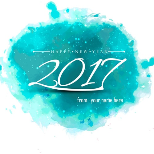 name on happy new year 2017 wishes picture