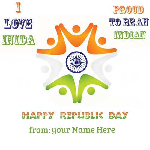 name on i love my india 26 january republic day images