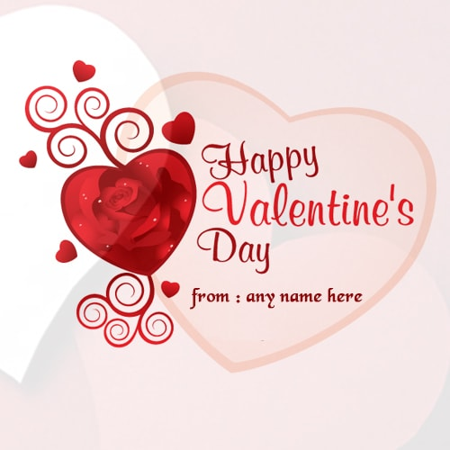 name on red rose valentines day wishes pictures