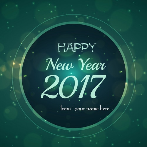 new year 2017 wishes greeting with name