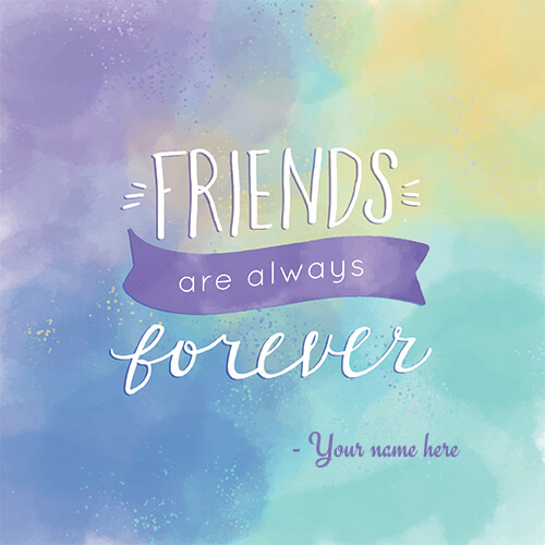 Online Wishes Happy Friendship Day 2018 Pic With Name