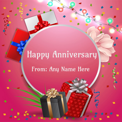online wishes happy anniversary with name edit