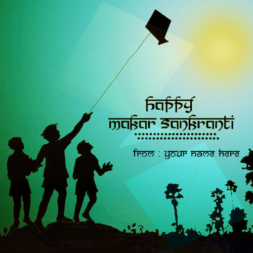 online wishes happy makar sankranti 2018 with your name pic