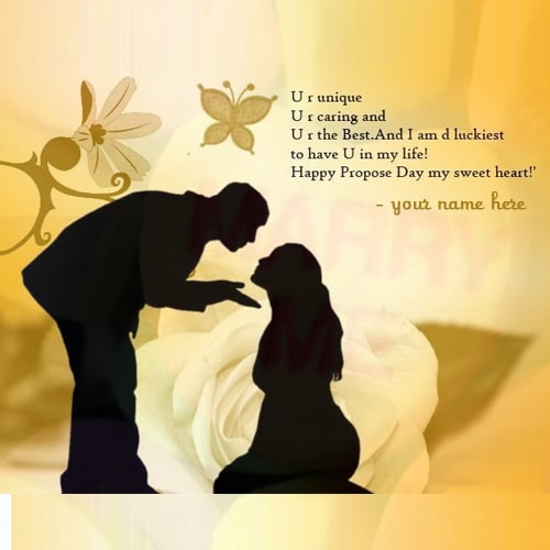 propose day greeting cards with name