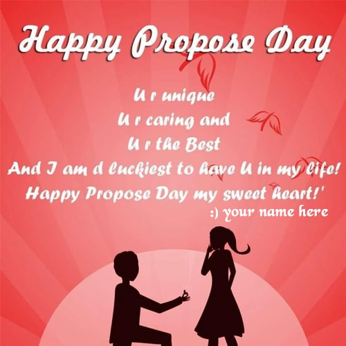 Propose Day Wishes Beautiful Images Name