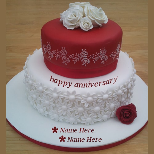 wedding cake images with name editor and white anniversary wishes cakes 22962