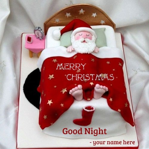 Santa Claus Sleeping Bag Good Night Wishes Name Editing