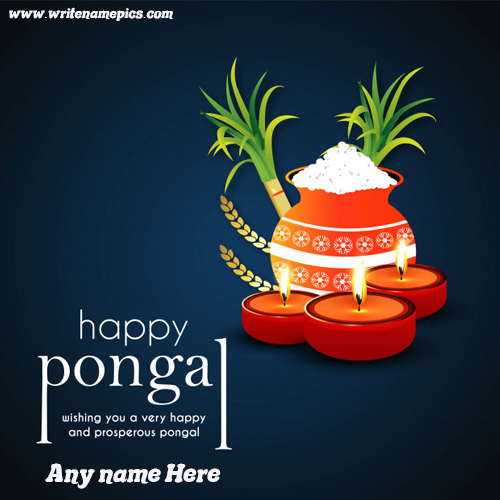 special Pongal festival card with name
