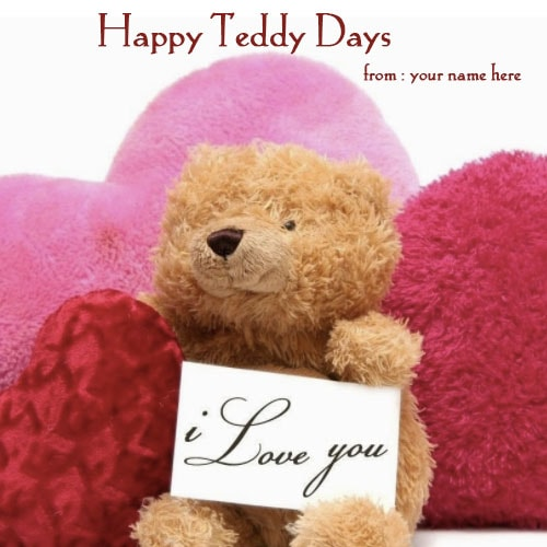 teddy bear saying i love you name pics