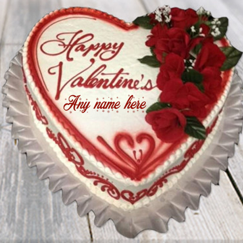 valentine day special cake with name pic