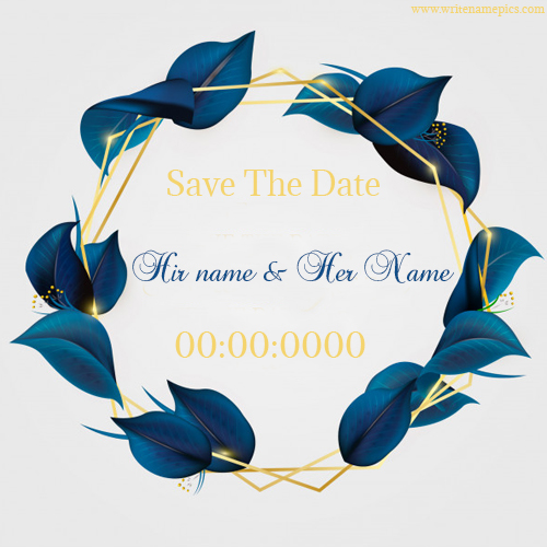 wedding invitation card with name and date for free
