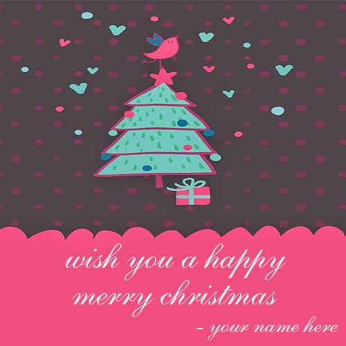 wish you a happy merry christmas greeting cards