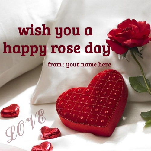 wish you a happy rose day name pics