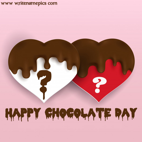 world chocolate day 2019 card with alphabet images