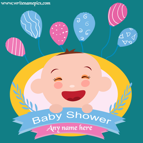 write a name on baby shower card photo
