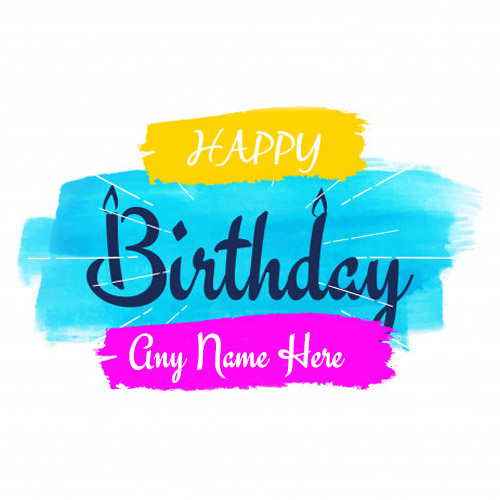 write name on Cool happy birthday greeting card with name