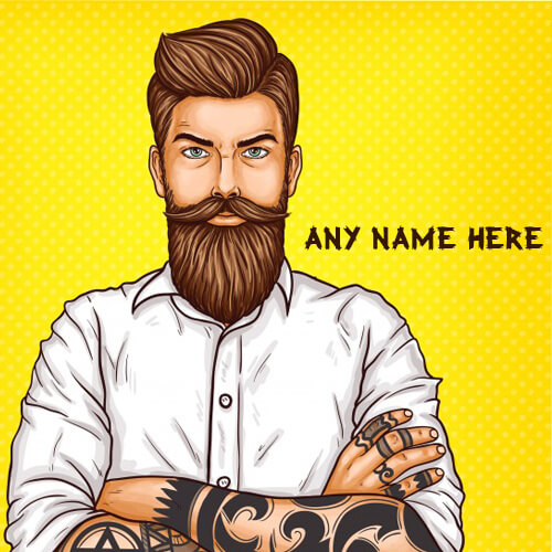 write name on beard style boys whatsapp profile picture free download