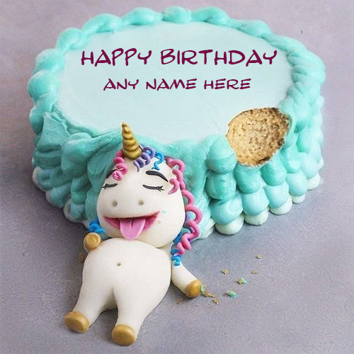 write name on happy birthday cake with cute teddy images