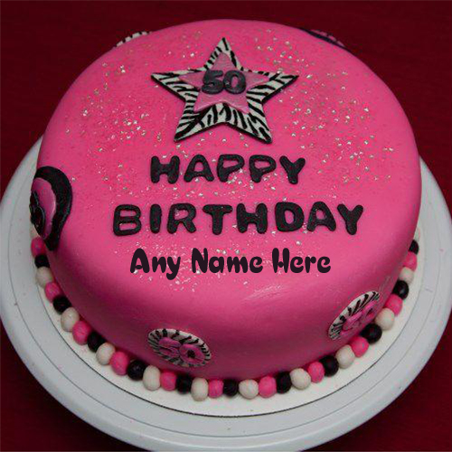 write name on happy birthday pink star beautiful cake images