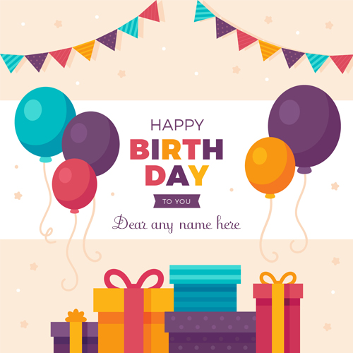 write name on happy birthday to you bubbles greeting card