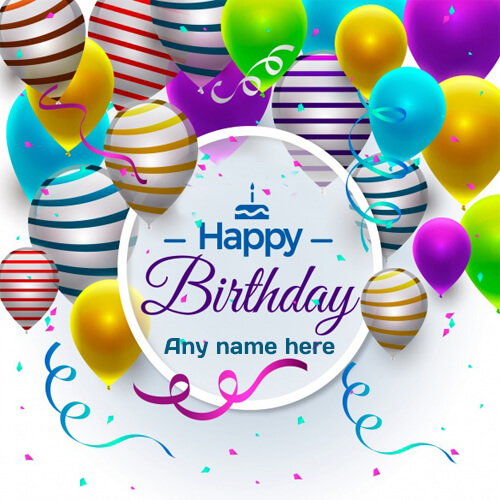 Write Name On Happy Birthday Wishes Greeting Cards Pic