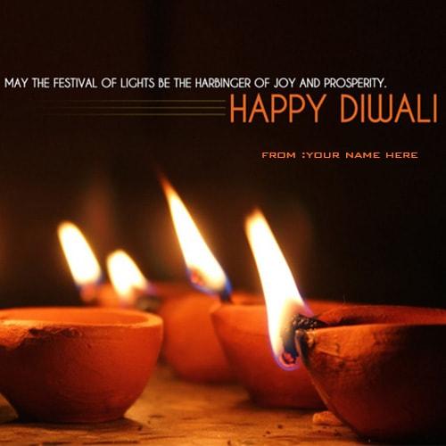 write name on happy diwali images