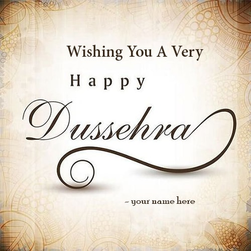 Write name on happy dussehra greetings cards m4hsunfo