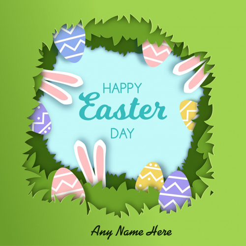 write name on happy easter day 2018 picture