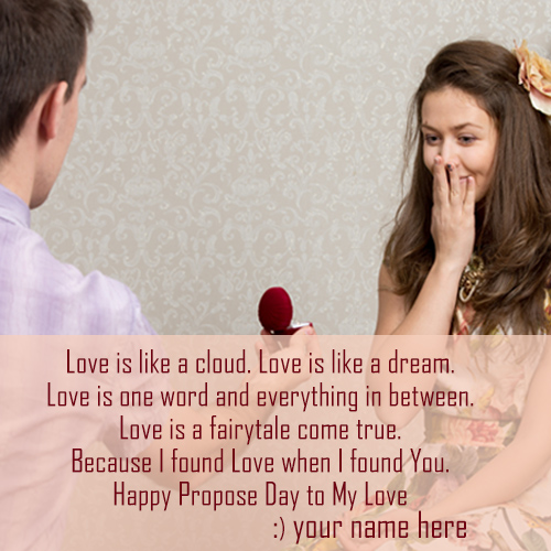 write name on happy propose day wish greeting cards pictures