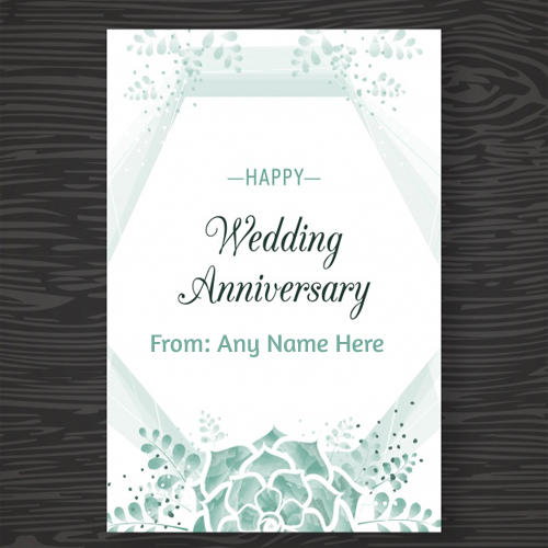 write name on happy wedding anniversary images for free