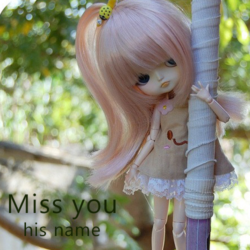 write name on i miss you dolls images