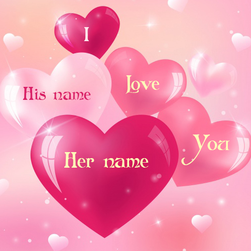 write name on love heart