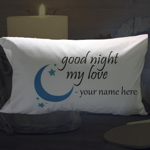 write name on lovely good night your love wishes pic