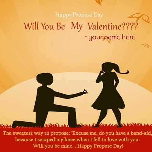 write name on propose day quote picture