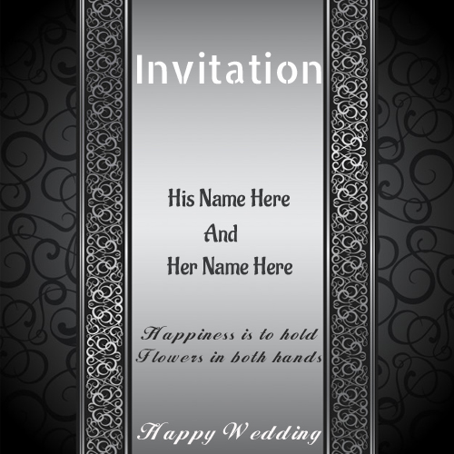 write name wedding invitations greeting card pictures free