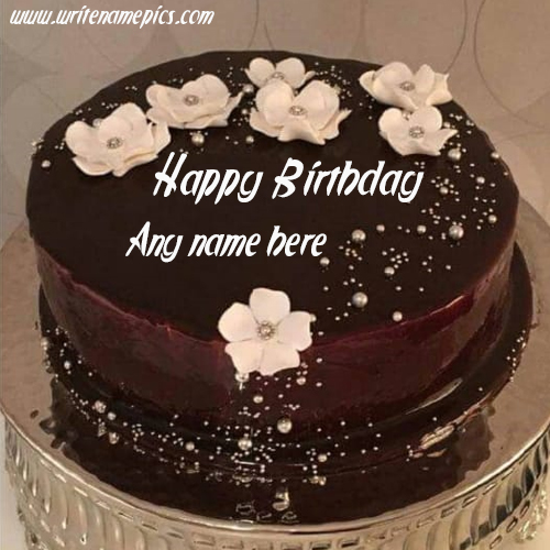 write the name on this chocolate cake Image
