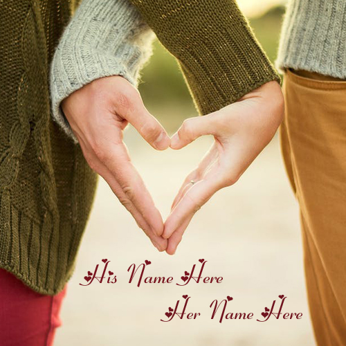 write your couple name on beautiful couple hands images free