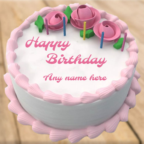Best Friends And Family Members Easily Create Rose Birthday Flower Greeting Cake With The Name Online Make Happy Wishes